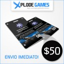 Cartão PSN $50 - PlayStation Network Card $50 - PSN Card $50