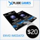 Cartão PSN $20 - PlayStation Network Card $20 - PSN Card $20