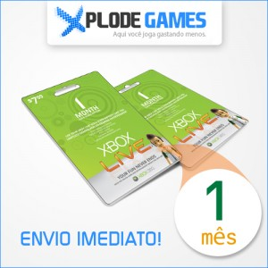Assinatura XBox Live Gold 1 Mês - XBox Live Gold 1 Month