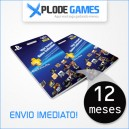 Cartão Playstation Plus 12 Meses - PSN Plus 12 Meses