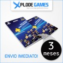 Cartão Playstation Plus 3 Meses - PSN Plus 3 Meses